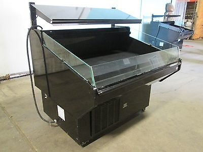 Barker Lra54 Hd Commercial Open Lighted Refrigerated Produce Rolling Display