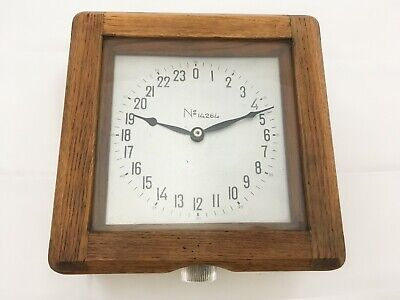 USSR Submarine 24 Hour Wooden Wall Clock