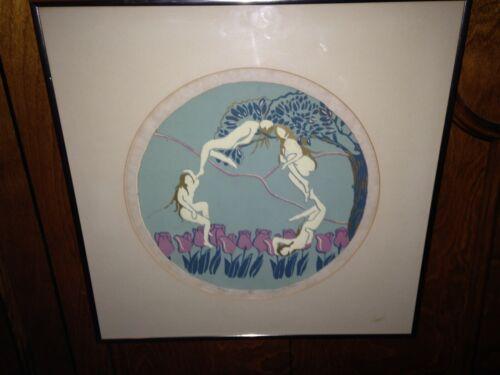 Jane M Saks Tulips Print 1979 fairies and pixies