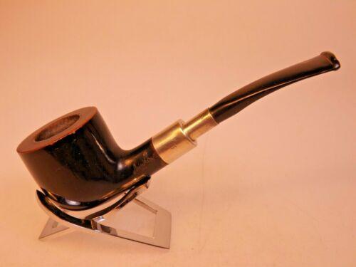 Annellino 1886 by Rovera Bent Pot 137 Briar Pipe Silver 925 Spigot Ebonite Stem