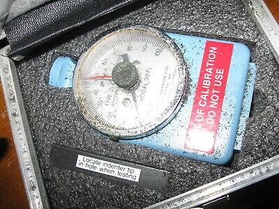 Vintage Ptc Type D Durometer Hardness Gauge Case W Instructions Cracked 307l