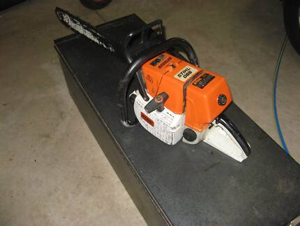 Stihl chainsaw 066 magnum with steel Kincrome tool  box for sale.