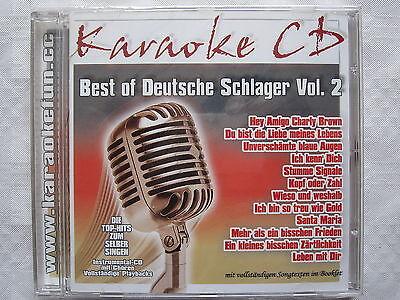 Best of Deutsche Schlager Vol. 2, Top-Hits, Karaoke CD mit Chören und Texten.