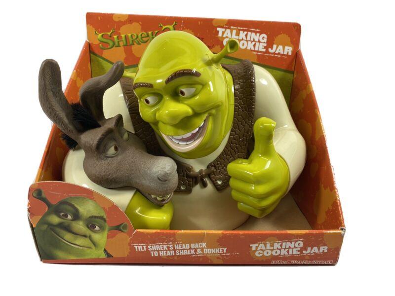 Shrek 2 Ogre & Donkey Talking Cookie Jar 2004 Dreamworks NEW NIB