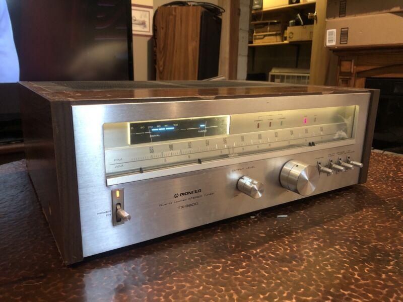 Pioneer TX-9800 Vintage Stereo Quartz Tuner Multi-Voltage Works Wood Has Scuffs