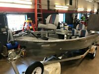 15' Lakeland 1578 Pro Mariner Motor w/ Miscellaneous Trailer  T1289950