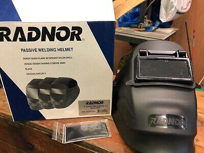 Radnor Black Cobra Welding Helmet Shade 10 Passive Lens 24fp Flip Up 2 X 4-14