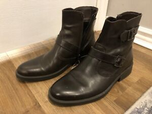 New MAC Italian leather boots brown size 7.5 euro size 40