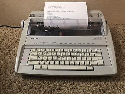 Brother Gx-6750 Correctronic Electric Typewriter Tested Works Great