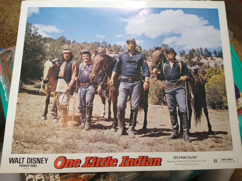 One Little Indian-James Garner-11x14-Color-Lobby Card-Walt Disney.NOT A ORIGINAL