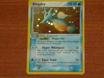 Pokemon Card: KINGDRA #12/109 HP120 EX-Team Rocket Returns Rare Holofoil 2004