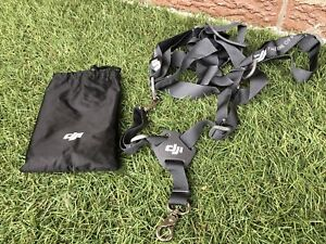 DJI transmitter harness carry strap support system