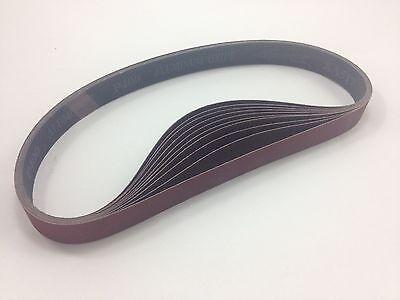"""1"""" x 30"""" Sanding Belts, 10 pack, 400 grit, AL Oxide - Made in USA"""