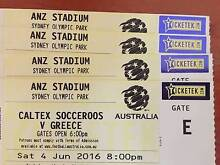 SOCCEROOS V GREECE FOOTBALL GAME IN SYDNEY!! CATEGORY A!! Georges Hall Bankstown Area Preview