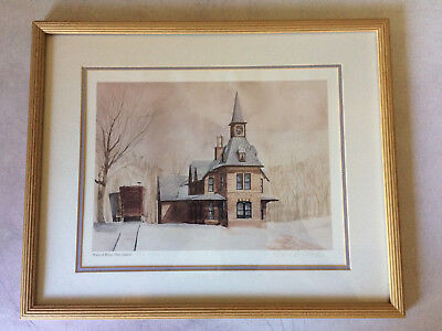 Eric Mohn, Signed Framed Watercolor Print 326/1400, Point of Rocks Train Station