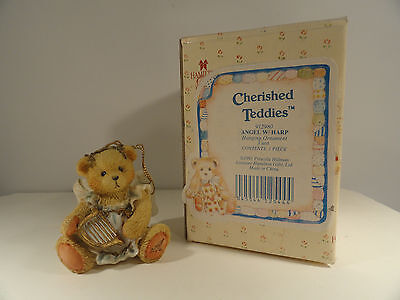 Cherished Teddies Angel with Harp Hanging Ornament