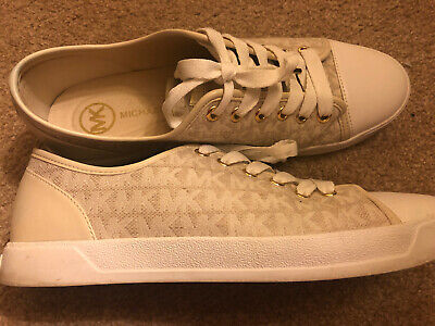 EUC Womens Cream Michael Kors City Sneaker Size 9
