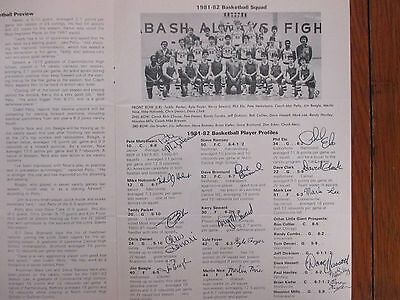 1981  National  Champion  Wabash Mens Basketball Program  17 Signed Mac  Petty