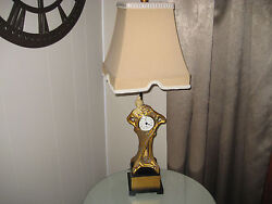 Dale Tiffany Inc. Antiques Roadshow Signature Art Deco Lady Clock Lamp Stunning