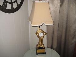 Dale Tiffany Inc. Antiques Roadshow Signature Art Deco Lady Clock Lamp Stunning
