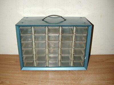 Vintage Akro-mils 30-drawer Small Parts Hardware Metal Storage Box Organizer