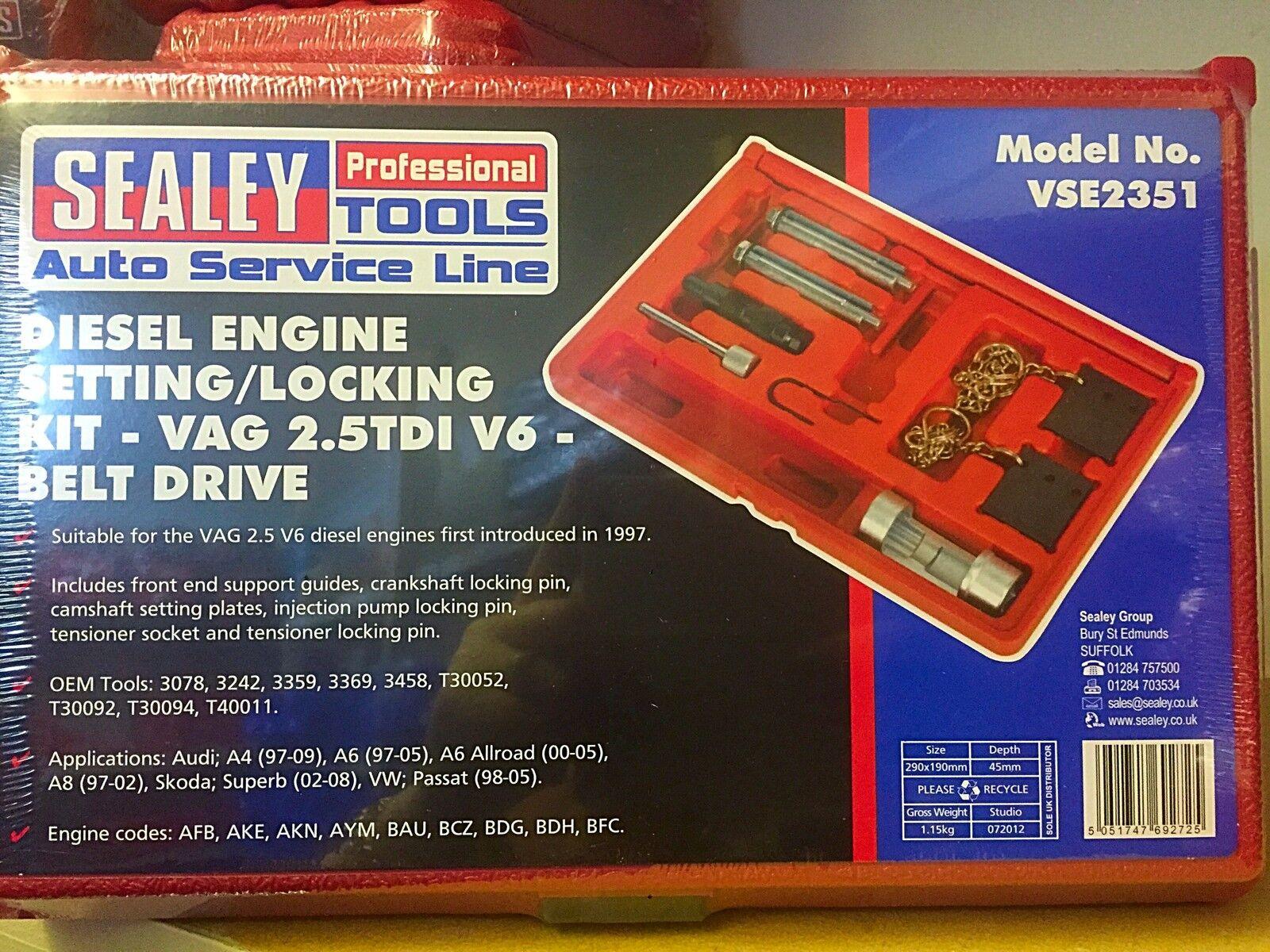 VAG Laser Tools 3790 Timing Tool Kit 2.5 TDi