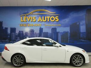 2014 Lexus IS 350 F SPORT PACKAGE AWD 57500 KM CUIR ROUGE WOW !