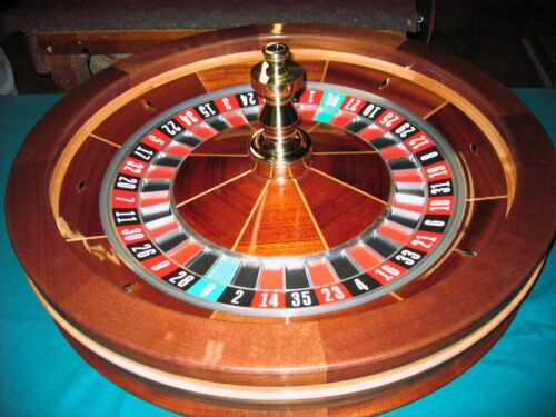 32 Inch Solid Mahogany Roulette Wheel (Made in the USA) by ACEM CASINO SUPPLIES