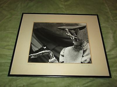 Vintage 80s PHOTO Female Metalic Mannequin KT 1982 2/100 Rare Fashion B&W Framed
