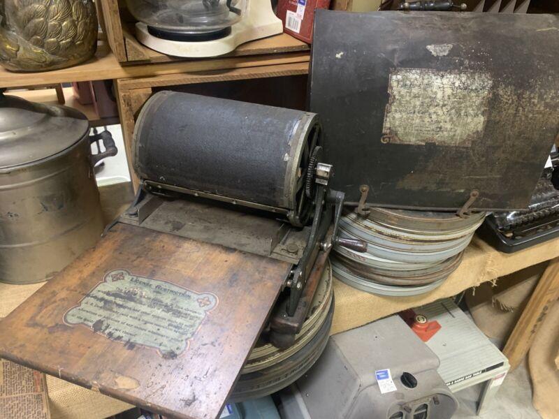 EDISON ROTARY COPYING MIMEOGRAPH No75  A.B Dick Company Antique Copy Machine Vtg