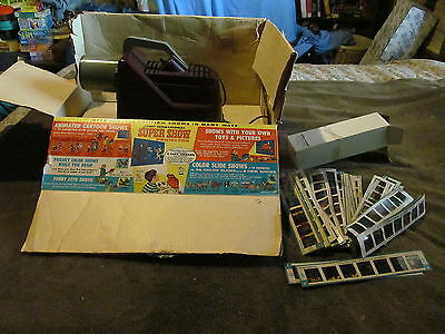 Fabulous Vintage 1962 Kenner Super Show Projector With Original Box & MORE!!!!