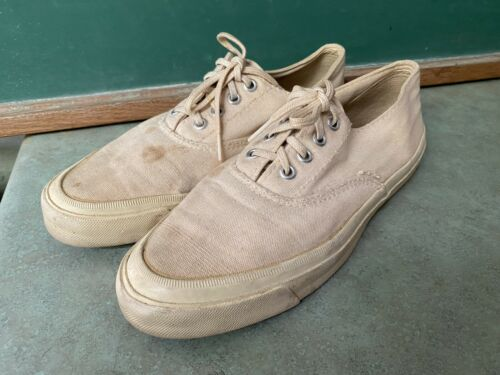 Converse Vintage Rare Canvas Shoes Mens Size 8.5  Made In USA