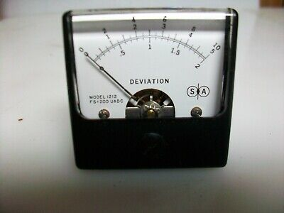 Nos Small Square Simpson 0-200 Ua. Panel Meter Scale 0-2 0-5 0-10 Deviation