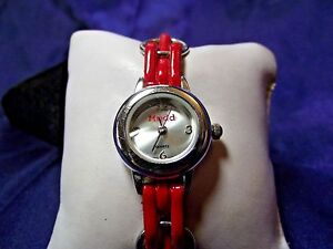 Woman's Mudd Watch with Red Band **Pretty** B21-256