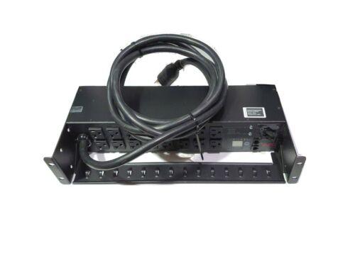 APC AP7902 Switched Rack PDU 2U 30A 120V (16x) 5-20R Outlets L5-30P In + CM Tray