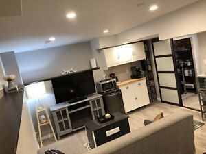 Brand New Open Concept Bachelorette Basement Apartment.