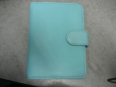 Fossil Teal Leather Passport Folio Journal Notebook Cover Notepad 5 X 6.75