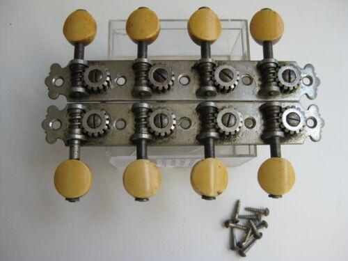 Vintage European Mandolin Tuners Set for Project Upgrade