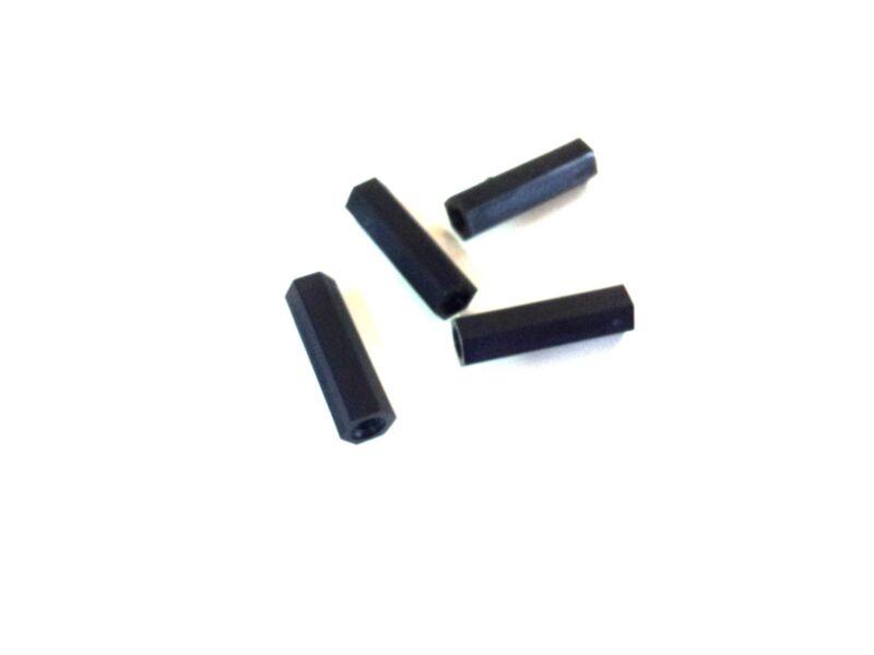M3 x 20mm Nylon Tapped Standoffs Spacers - Black (4 pcs)