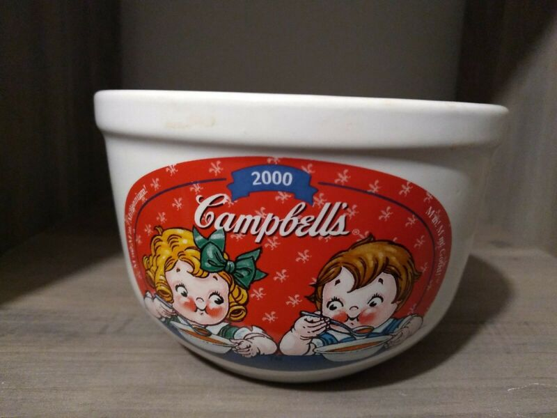 Campbells Kids Soup Bowl 2000 Collectible Houston Harvest Collector Advertising