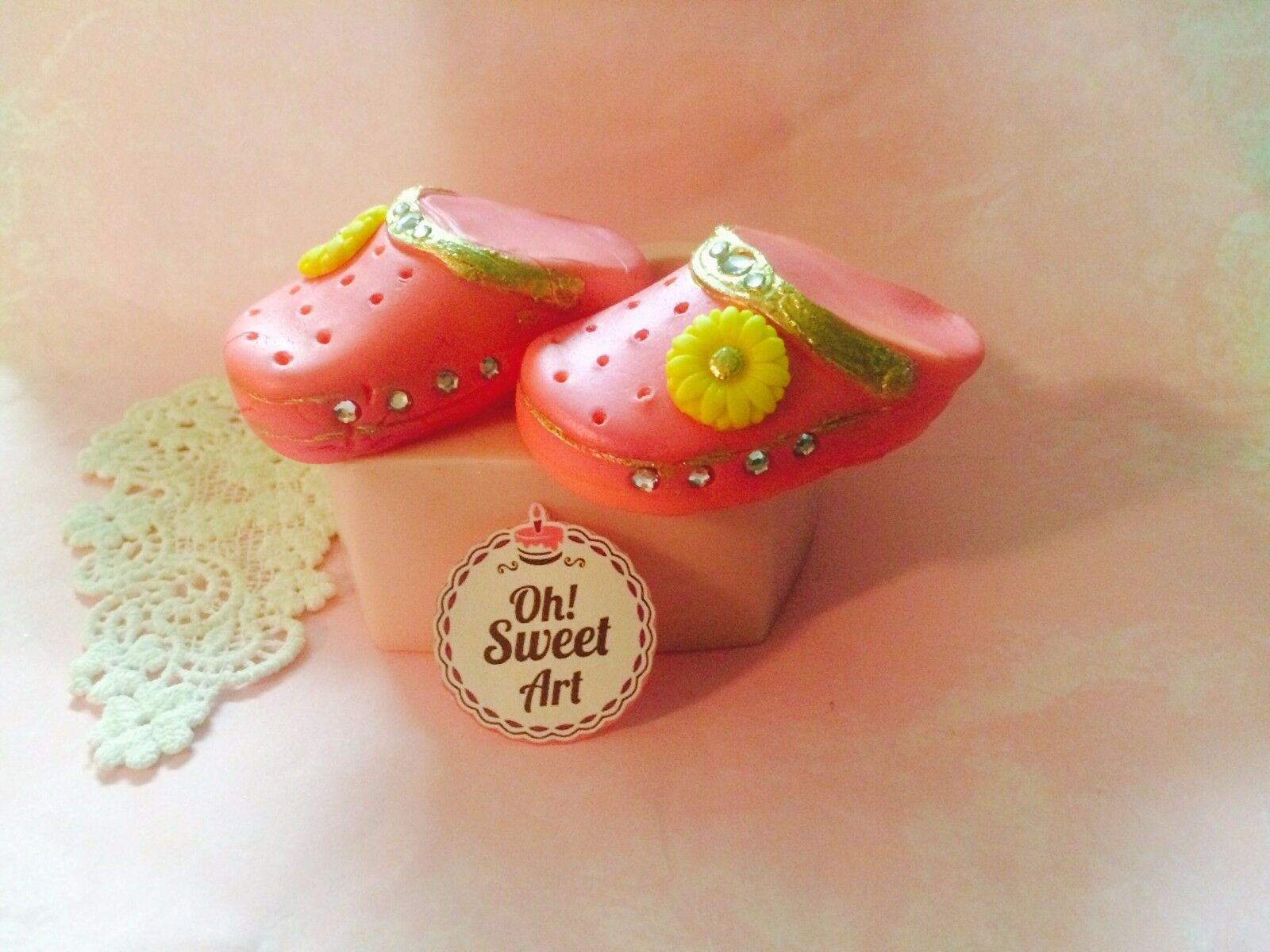 Baby shoes CROCS 3D silicone mold fondant cake soap decorating APPROVED FOR FOOD