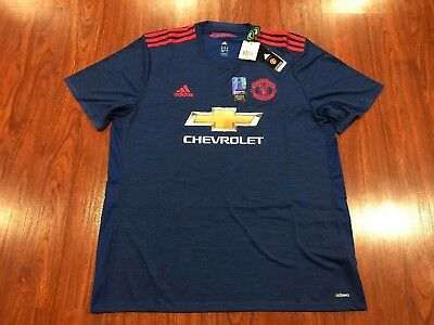 2016-17 Adidas Authentic Player Manchester United Men s Soccer Jersey XXL  2XL 142d3c699
