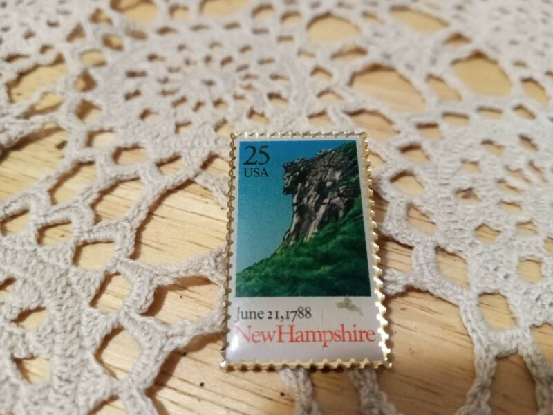Vintage Old Man In The Mountain Pin New Hampshire Winco