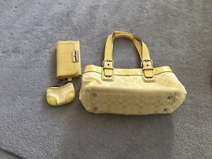 AUTHENTIC COACH PURSE, WALLET AND CHANGE PURSE
