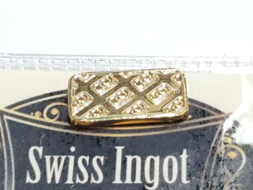 Swiss Ingot 1 Gram Layered In 24 Carat Gold