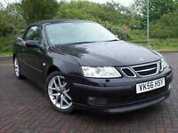 SAAB 9-3 CONVERTIBLE AERO 210 BHP BLACK 2006 56 REG SPARES OR REPAIR