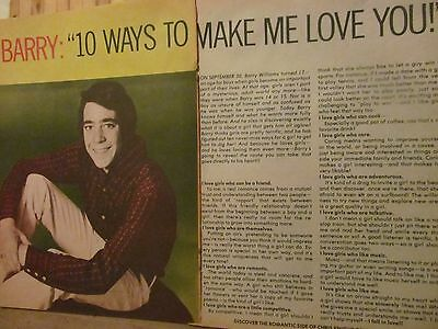 Barry Williams, The Brady Bunch, Two Page Vintage Clipping