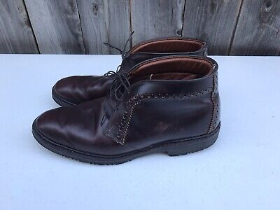 Allen Edmonds Bellevue Chukka Brown Leather Work Plain Toe Boots Men's Size (Bellevue Square Bellevue)