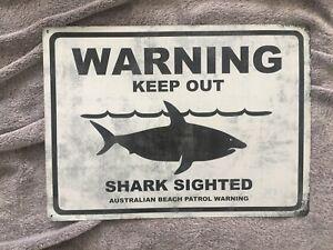 Warning Keep Out Shark Sign