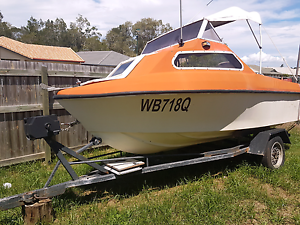 Reef craft half cabin 16ft Caboolture South Caboolture Area Preview
